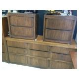 Huntley by Thomasville Dark Oak dresser and Night Stands