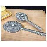 Silverplate Brush Set