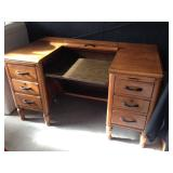 Old Oak Secretary Desk