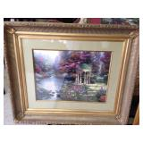 "24""X18"" Print Thomas Kinkade ""The Garden of Prayer"""