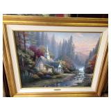"24""X30"" Canvas Thomas Kinkade ""The Forest Chapel"""