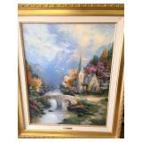 "30""X24"" Canvas Thomas Kinkade AP ""The Forest Chapel"""