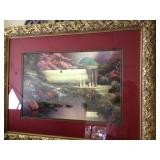 "30""X21"" No. Print Thomas Kinkade ""The Garden of Prayer"""