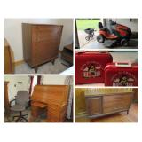 Rainbow Acres Online Auction - midcentury modern, riding lawnmower, vintage and more