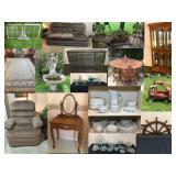Navasota Historic District Online Estate Auction-Boat parts, riding lawnmower, Ships Ahoy furniture