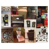 Kurten Online Estate Auction - player piano, antiques, wagon wheels and more