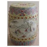 19th Century Famille Jaune-Style Porcelain Garden Seat (China)