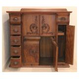 Vintage 1915 Victorian Singer Oak Wood Sewing Cabinet - Second View