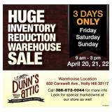 Huge Inventory Reduction Warehouse Sale