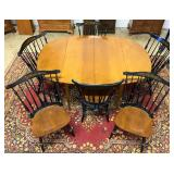 Hitchcock Table & Windsor Back chairs