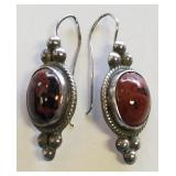 Sterling Southwest Style Pierced Earrings