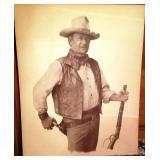 Large Black & White John Wayne Print