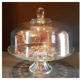 Vintage Footed Cake Plate & Cover
