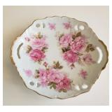 Antique Hand Painted Cake Plate
