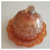 Imperial Carnival Lustre Rose Butter Dish