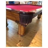 Pool Table, Leather pockets