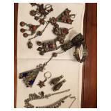 vintage algerian enamel Kabyle jewelry