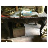 table and copper coal bin