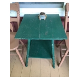 #6 sturdy green table $25
