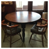 """#15 48"""" table w/2 chairs, 2-12"""" leaves $ 85"""