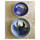 #29 2 royal copenhagen plates $8