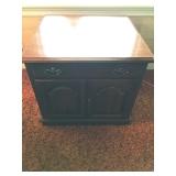 #32 wood sq cabinet $20