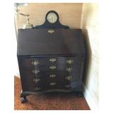 #42 4 drawer drop front secretary $150