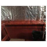 #63 dbl sleigh bed  $35