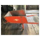 #69 red wood wagon $35