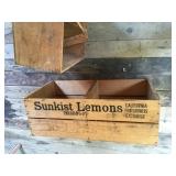 """#83 -2 wooden cartons w/""""shelves""""15"""