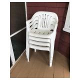 #87 White chairs $8