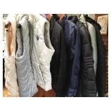 vests $ jackets Brooks Bros, Northface, coleHaan, jcrew