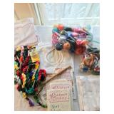 33. big lot of flosses, colored threads  $75