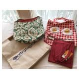 41.Four knitting bags $22