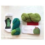 27. 2 green kits  hat+ scarf $25
