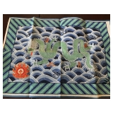 40. Large Needlepoint dragon $38