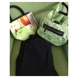 AA: Flax linen pants, Angela Adams purse used, purse new $25