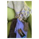 BB: handmade cashmere lg scarf/shawl, Lands end new pants, polartex new, socks $28