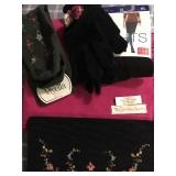II: vintage beaded purse, pashima new, gloves, socks, tights $22