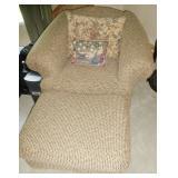 Chair & ottomon