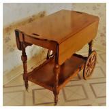 Maple Finish Tea Cart