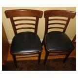 Vintage Pair of Side Chairs