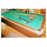 Vintage Pool / Billards Table w/ ball return
