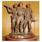 Franklin Mint Three Service Men Vietnam Memorial