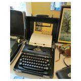 vintage Royal typewriter with glass keys