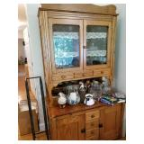 Oak Bakers Cabinet