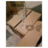 Cases of new Champagne glasses