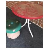The table is for the chair set. Mushroom Stool.