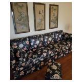Sofa, foot stool extra fabric 135