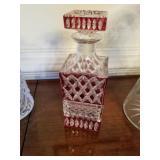 Cranberry Glass decanter $20